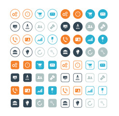 Round and circle business and strategy vector icons eps10