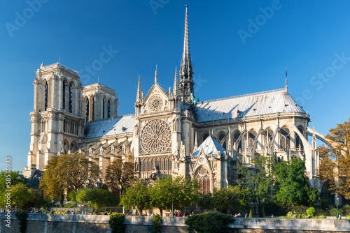 Leinwandbild Motiv The Cathedral of Notre Dame de Paris