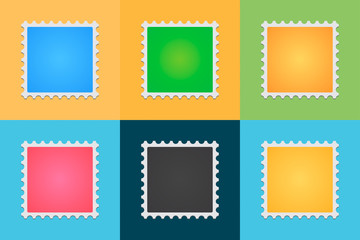 Post stamp color set