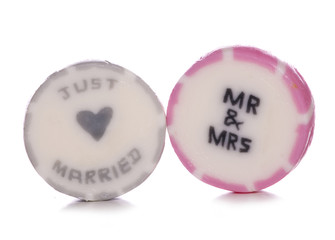 Just married wedding sweets
