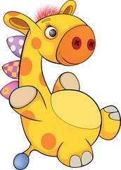Toy giraffe cartoon