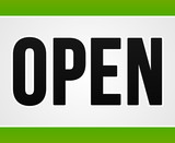 Green Open Sign