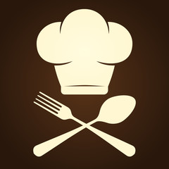 Chef Symbol and Cutlery