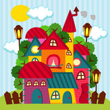 houses - vector illustration
