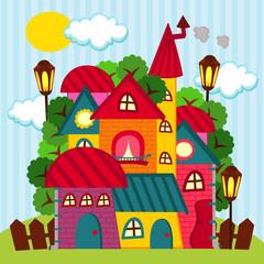houses - vector illustration