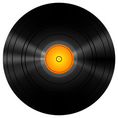 Golden Vinyl Disc Record