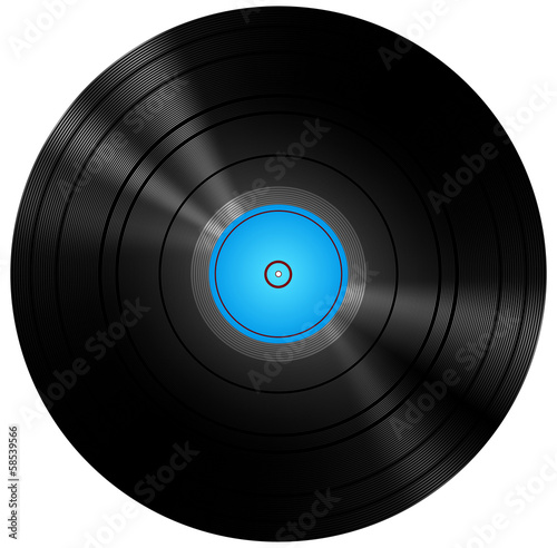 Retro Blue Vinyl Disc