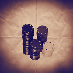 casino chips paper backdrop