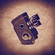 vintage movie camera paper backdrop
