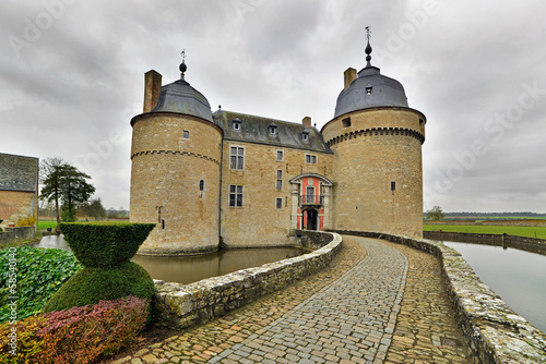 Exterior of the castle Lavaux-Sainte-Anne. Rochefort. Ardennes.