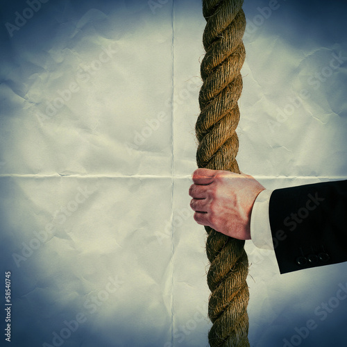 hold rope paper backdrop