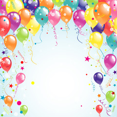 Color beautiful party balloons, vector