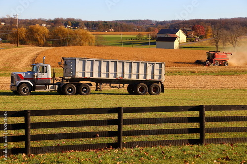 Harvest in Lancaster County, Pennsylvania