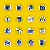 vector multimedia computer icon set
