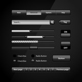Clean Dark User Interface Controls 7