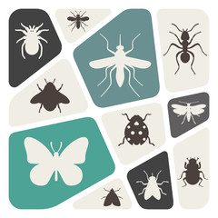 Background with insects