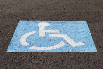 Handicapped Parking Space Closeup