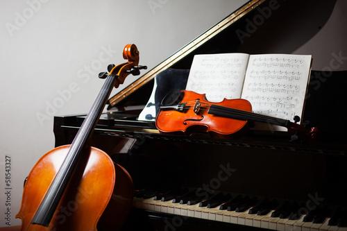 Leinwanddruck Bild Classical music