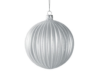 Christmas Tree Ornament Hanging on White Background