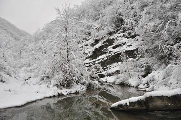 Le Gualchiere con la neve