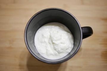 Mug with kefir