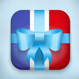 Vector Design France Gift Icon for Web and Mobile