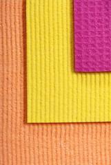 Colorful sponge foam as background texture