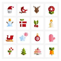Christmas Icons - colored