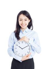 時計を持った女性