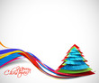 Modern abstract christmas tree background, eps10