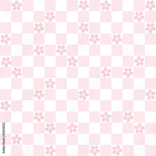 cherry blossoms 唐草模様