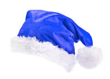 Blue  Santa Claus hat