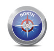north compass illustration design