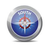 south compass illustration design