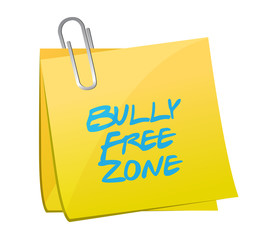 bully free zone post illustration design
