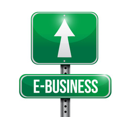 e-business road sign illustration design