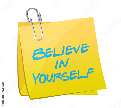 believe in yourself post illustration design