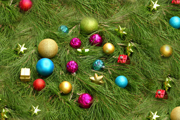 Abstract Christmas Decorations Background