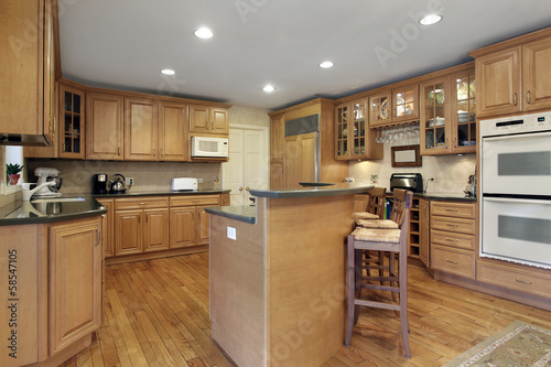 Kitchen with double decker island