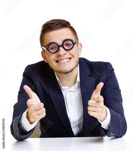 Man in eyeglasses