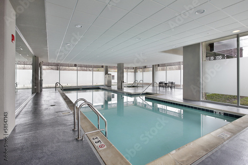 Swimming pool in condominium building