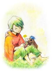 男の子とモグラ