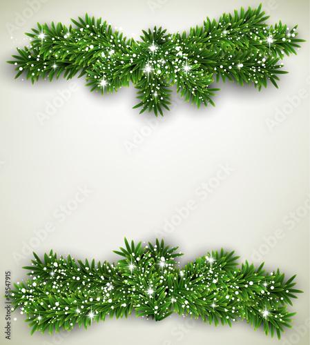 Fir bundle christmas frame.