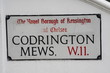 codrington Mews w11 a famous london address