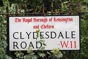 clydesdale Road W11 a famous London Address