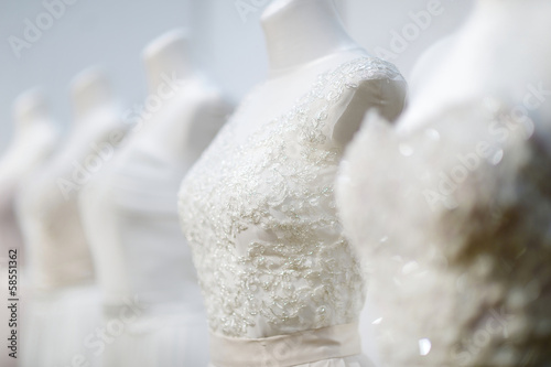 A few wedding dresses