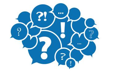 Frage FAQ Fragen - Vektor