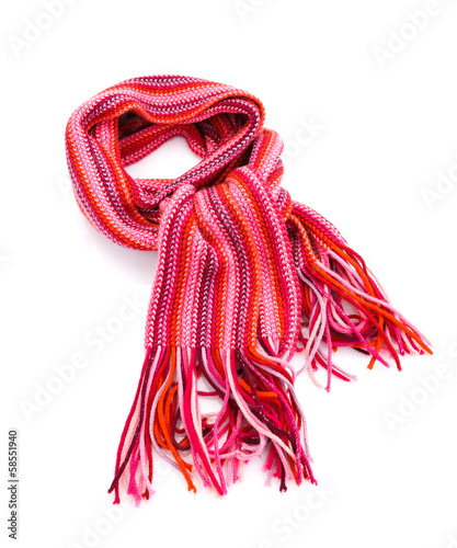 Striped red scarf
