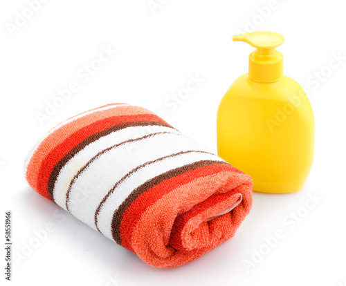 Towels and Soap Dispenser