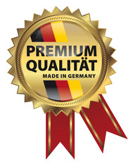 Premium Qualität - Made in Germany - Goldvignette